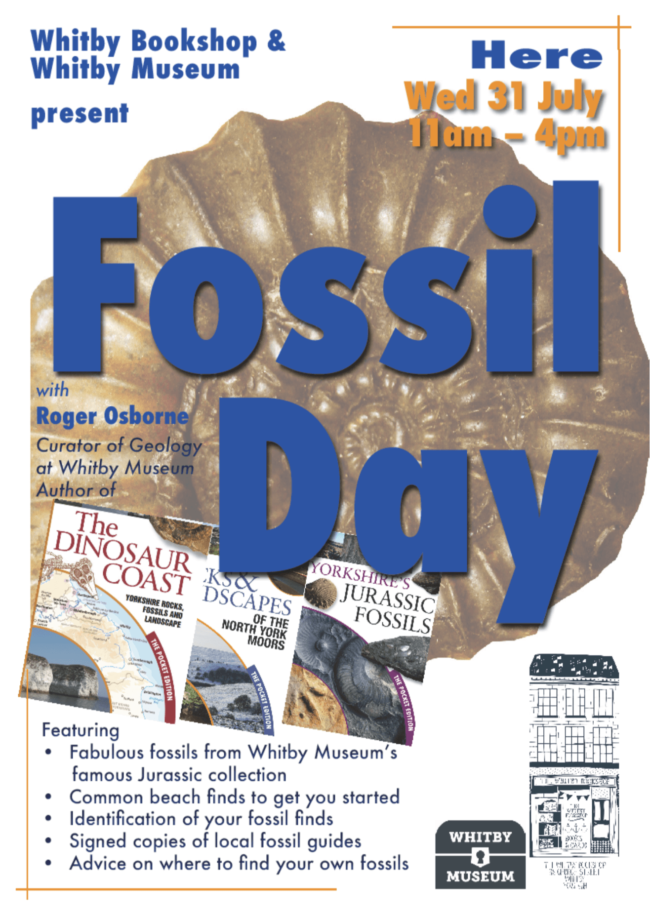 Fossil Day at Whitby Bookshop